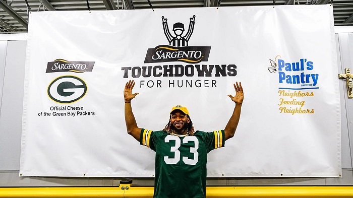 Touchdowns For Hunger Aaron Jones